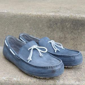 Ugg Chester Blue Leather Loafer Moccasins